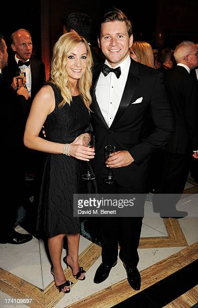 Joanne Froggatt and Allen Leech attend Aston Martin's Centenary Birthday Party celebrating 100 years as one of the world's most iconic automotive...