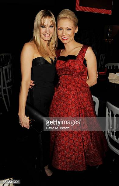 Joanne Froggatt and MyAnna Buring attend an after party following the Moet British Independent Film Awards 2013 at Old Billingsgate Market on...