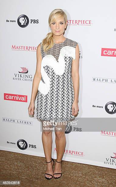Joanne Froggatt arrives at the Los Angeles photo call of 'Downton Abbey' held at The Beverly Hilton Hotel on July 22 2014 in Beverly Hills California