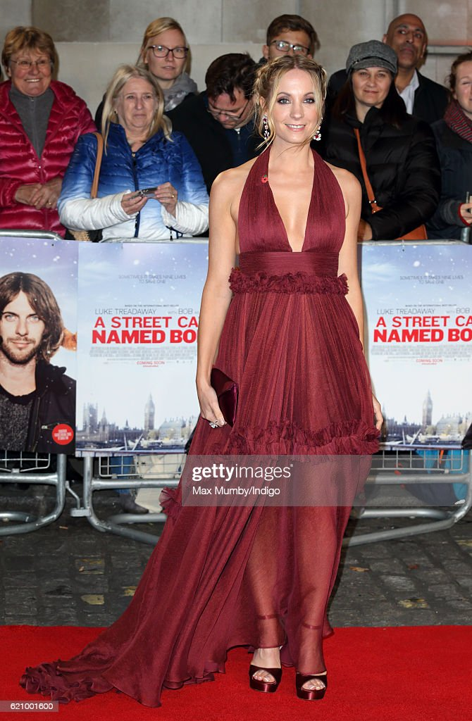 Joanne Froggatt attends the UK Premiere of 'A Street Cat Named Bob' in aid of Action On Addiction at The Curzon Mayfair on November 3, 2016 in London, England.
