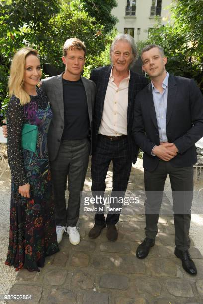 Joanne Froggatt Ed Speleers Sir Paul Smith and Russell Tovey all wearing Paul Smith attend the Paul Smith SS19 VIP dinner during Paris Fashion Week...