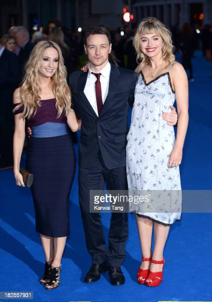 Joanne Froggatt James McAvoy and Imogen Poots attend the London Premiere of Filth at the Odeon West End on September 30 2013 in London England