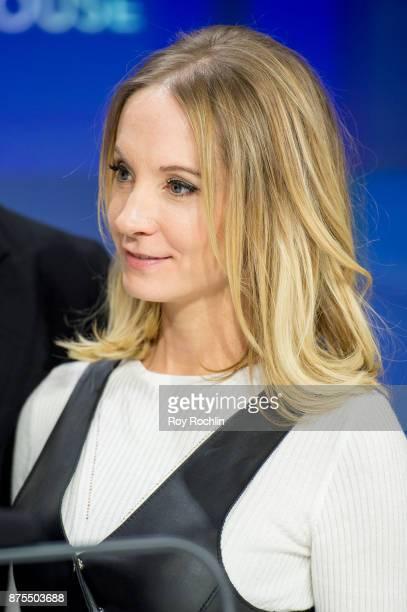 Joanne Froggatt of 'Downton Abbey' rings the Nasdaq Stock Market Closing Bell at NASDAQ on November 17 2017 in New York City