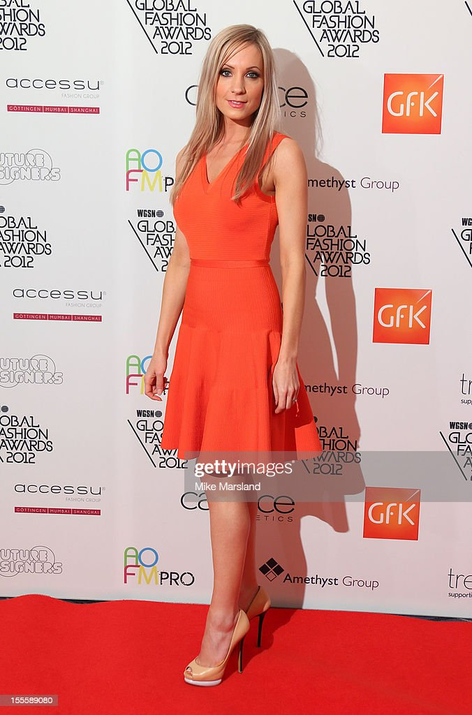 Joanne Froggatt poses in the awards room at the WGSN Global Fashion Awards at The Savoy Hotel on November 5, 2012 in London, England.