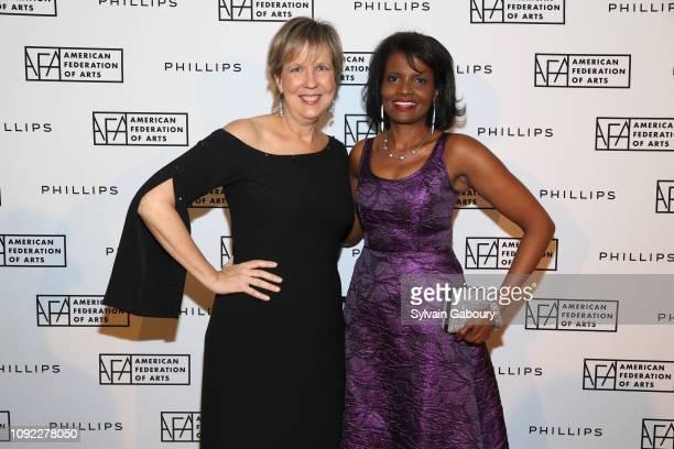 Joanne Heyler and Pauline Willis attend American Federation Of Arts 2018 Gala at Guastavino's on November 8, 2018 in New York City.