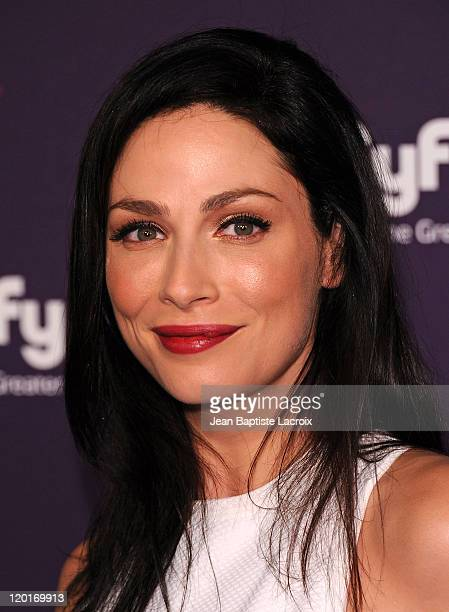 Joanne Kelly arrives at SyFy/E! Comic-Con Party at Hotel Solamar on July 23, 2011 in San Diego, California.