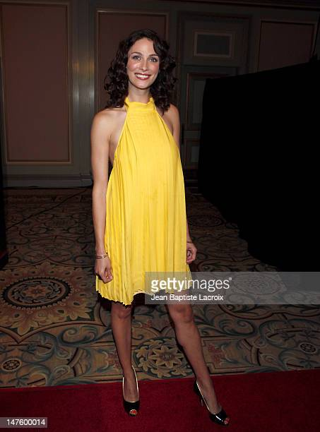 Joanne Kelly arrives at the NBC and Universal's 2009 TCA Press Tour AllStar Party at The Langham Resort on August 5 2009 in Pasadena California