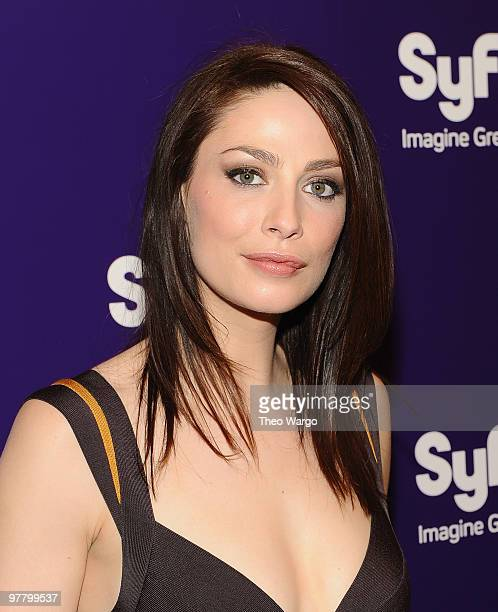 Joanne Kelly attends the 2010 Syfy Upfront party at The Museum of Modern Art on March 16 2010 in New York City