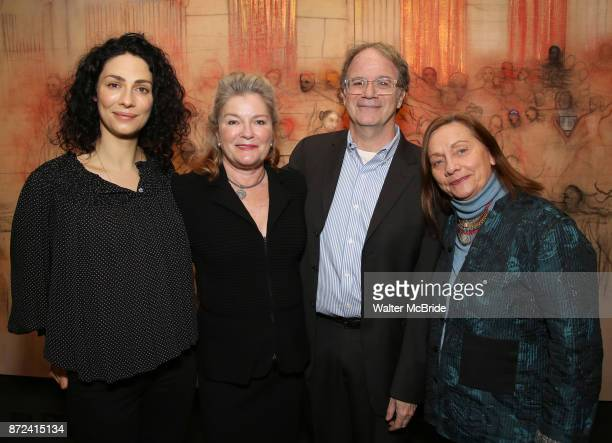 Joanne Kelly, Kate Mulgrew, Douglas Aibel and Dale Soules attend The Vineyard Theatre's Emerging Artists Luncheon at The National Arts Club on...
