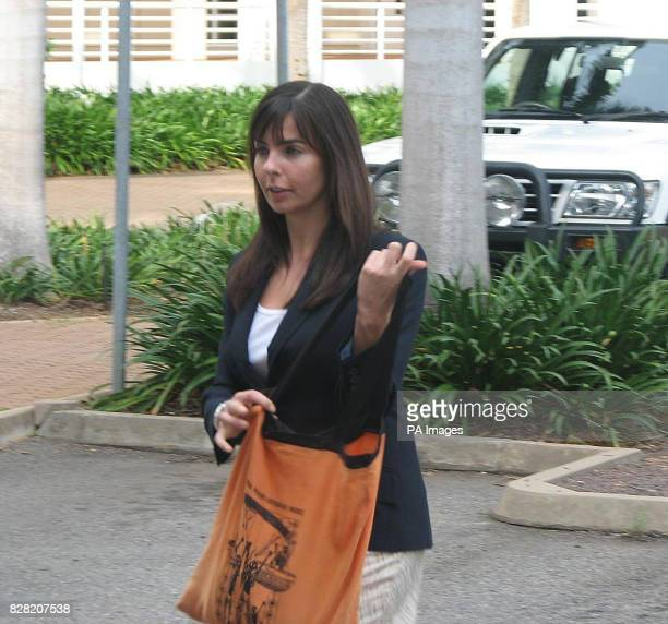 Joanne Lees arrives at the Northern Territory Supreme Court in Darwin Thursday 3 November 2005 where Bradley Murdoch of Broome Western Australia is...