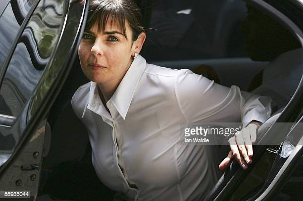 Joanne Lees girlfriend of Peter Falconio arrives at the Northern Territory Supreme Court for his murder trial October 17 2005 in Darwin Australia The...