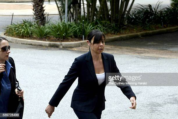 FALCONIO CASE Joanne Lees rushes up the steps of the NT Supreme court to hear the man she has accused of the murder of her boyfreind give evidence 29...
