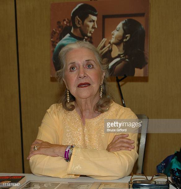Joanne Linville Romulan Commander during The Fifth Annual Star Trek Convention Celebrating the 40th Anniversary of the TV Series at Las Vegas Hilton...