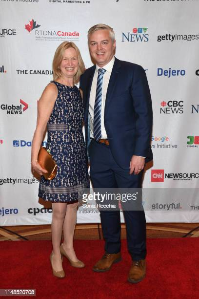 Joanne MacDonald and Scott Ferguson arrive at the 2019 national radio TV digital news conference and awards at the Sheraton Centre Toronto Hotel on...