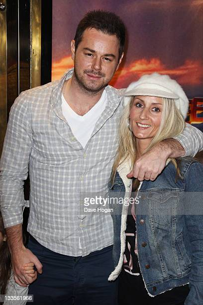 Joanne Mas and Danny Dyer attend the European premiere of Happy Feet Two at The Empire Leicester Square on November 20 2011 in London United Kingdom