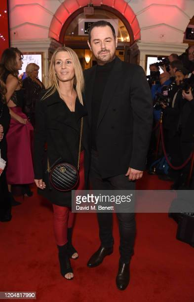 Joanne Mas and Danny Dyer attend the press night performance of Pretty Woman at the Piccadilly Theatre on March 2 2020 in London England
