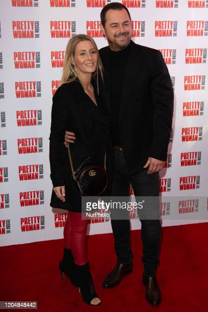 Joanne Mas and Danny Dyer attend the press night performance of ''Pretty Woman'' at the Piccadilly Theatre on March 2 2020 in London England