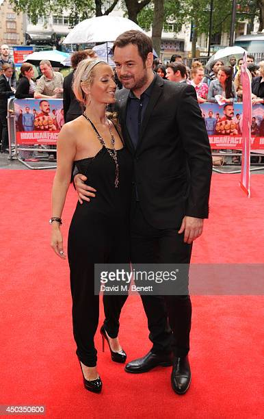 Joanne Mas and Danny Dyer attends the UK Premiere of The Hooligan Factory at Odeon West End on June 9 2014 in London England