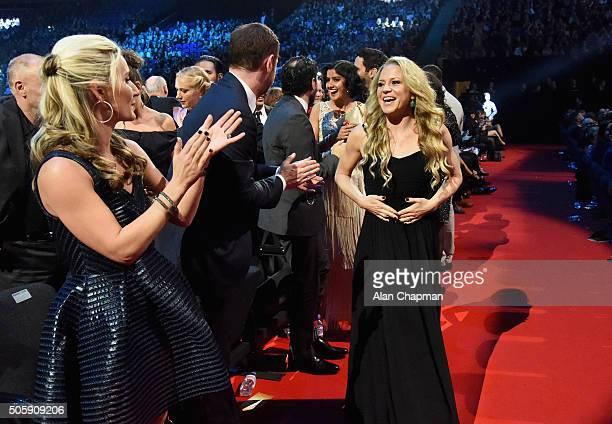 Joanne Mas Danny Dwyer Rakee Thakrar and Kellie Bright at the 21st National Television Awards at The O2 Arena on January 20 2016 in London England