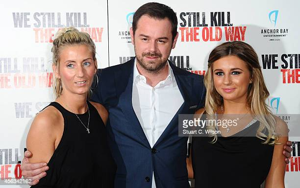 Joanne Mas Danny Dyer and Dani Dyer attend a photocall for We Still Kill The Old Way at Ham Yard Hotel on September 29 2014 in London England