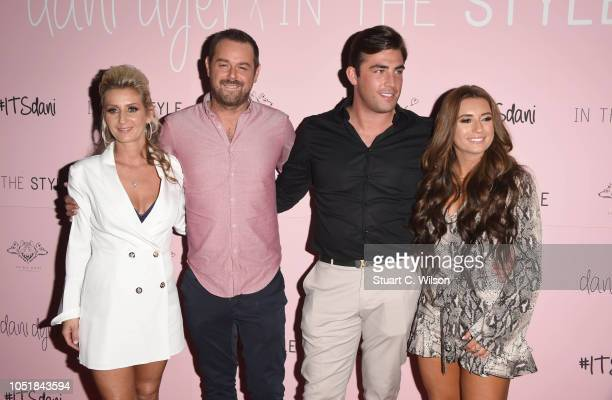 Joanne Mas Danny Dyer Jack Fincham and Dani Dyer attend the 'Dani Dyer X In The Style' launch party on October 10 2018 in London United Kingdom