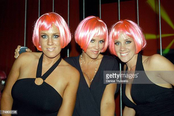 Joanne McCarthy Jenny McCarthy and Amy McCarthy during Jenny McCarthy Hosts Her Sister Amy McCarthy's Birthday Party at JET Nichtcub at The Mirage...