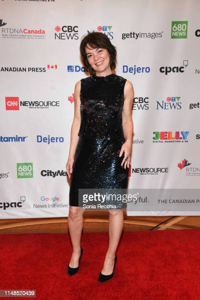 Joanne Mceherson arrives at the 2019 national radio TV digital news conference and awards at the Sheraton Centre Toronto Hotel on May 11 2019 in...