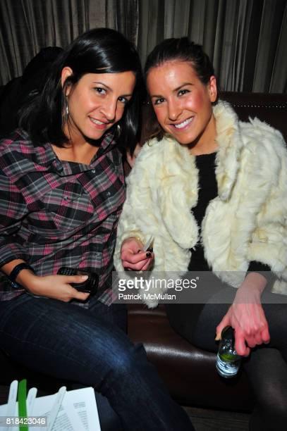 Joanne Mignano and Yasmine Afshar attend American Red Cross Concern Worldwide and The Edeyo Foundation Fundraiser at 1 OAK on January 21 2010 in New...