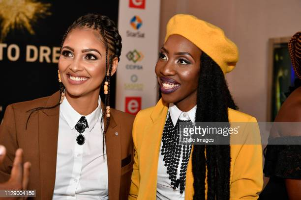 JoAnne Reyneke and Ntando during the 13th annual South African Film and Television Awards at the Sun City Superbowl on March 02 2019 in Rustenburg...