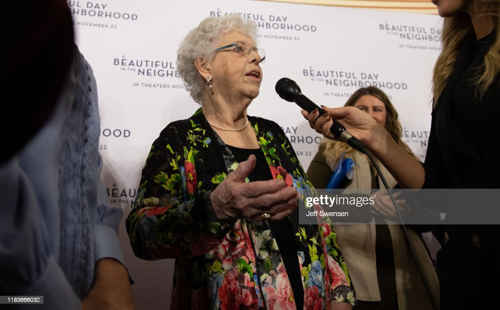 Joanne Rogers Center Wife Of Fred Rogers Attends A Beautiful Day News Photo Getty Images