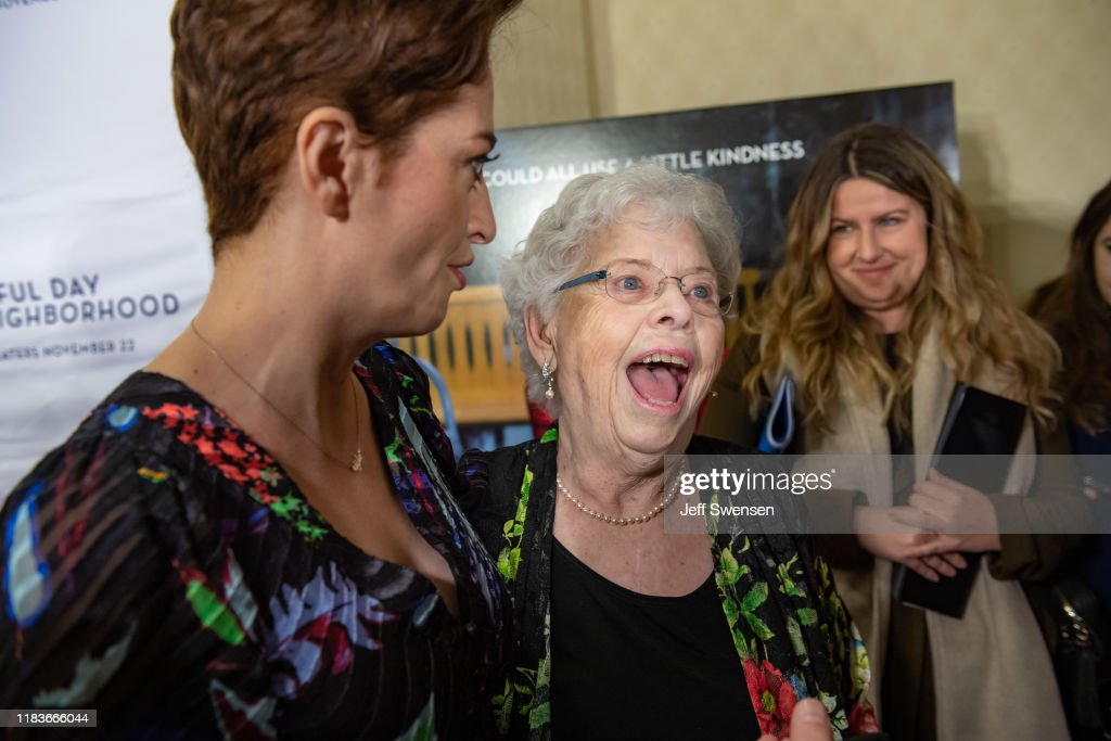 Joanne Rogers Wife Of Fred Rogers And Director Marielle Heller News Photo Getty Images