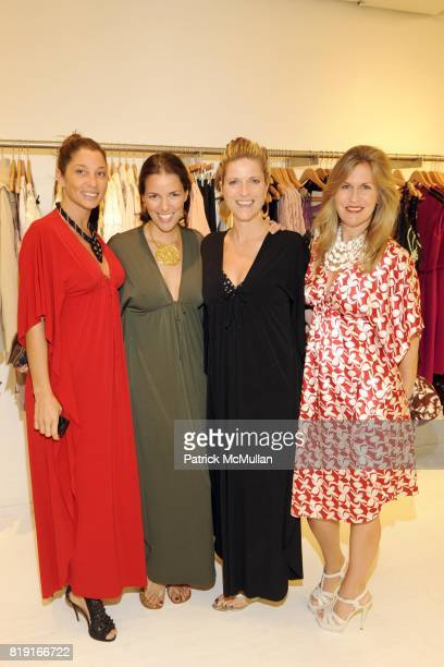Joanne Salt Ann Caruso Lucy Sykes and Kim Vernon attend SCOOP Beach Hosts JOANNE SALT'S New Collection JOSA TULUM at Scoop Beach on July 24th 2010 in...