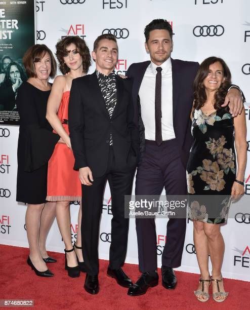 Joanne Schermerhom actress Alison Brie actor Dave Franco director/actor James Franco and Betsy FrancoFeeney arrive at the AFI FEST 2017 presented by...