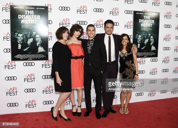 Joanne Schermerhorn actors Alison Brie Dave Franco and James Franco and Betsy FrancoFeeney arrive at the AFI FEST 2017 Presented By Audi screening of...