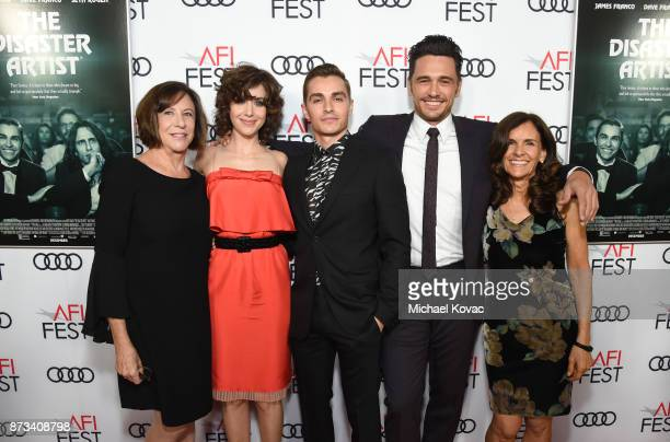 Joanne Schermerhorn Alison Brie Dave Franco James Franco and Betsy FrancoFeeney attend the screening of 'The Disaster Artist' at AFI FEST 2017...