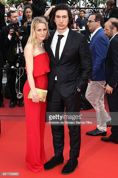 Joanne Tucker Adam Driver attend 'Loving' premier during The 69th Annual Cannes Film Festival on May 16 2016 in Cannes