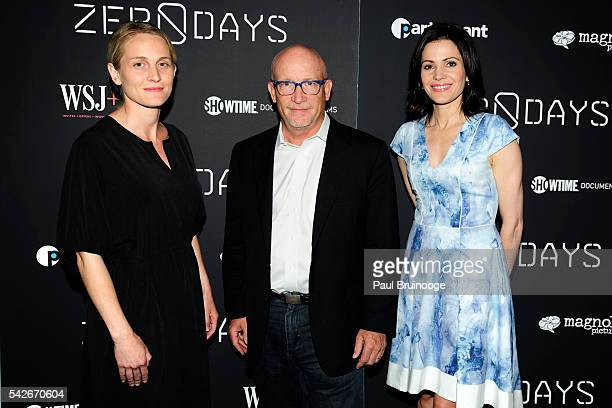 Joanne Tucker Alex Gibney and Tanya Rivero attend WSJ Presents the New York Premiere of ZERO DAYS at New York Institute of Technology on June 23 2016...
