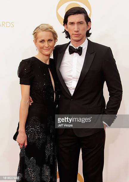 Joanne Tucker and Adam Driver arrive at the 65th Annual Primetime Emmy Awards held at Nokia Theatre LA Live on September 22 2013 in Los Angeles...