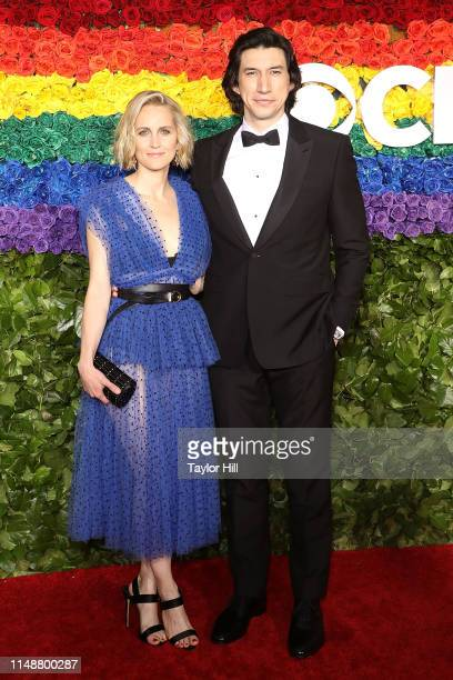 Joanne Tucker and Adam Driver attend the 2019 Tony Awards at Radio City Music Hall on June 9 2019 in New York City