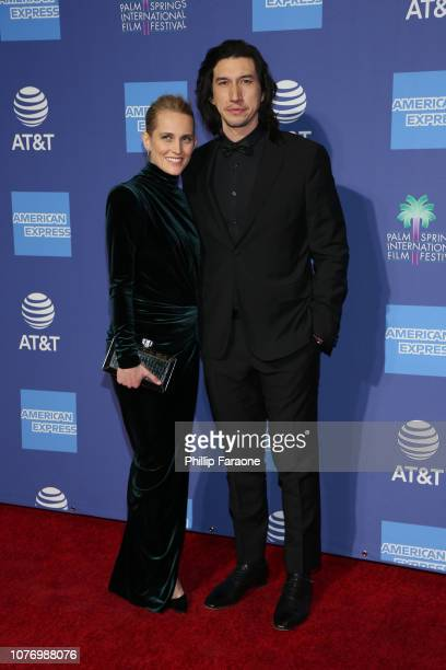 Joanne Tucker and Adam Driver attend the 30th Annual Palm Springs International Film Festival Film Awards Gala at Palm Springs Convention Center on...