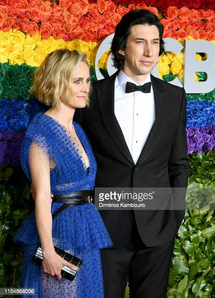 Joanne Tucker and Adam Driver attend the 73rd Annual Tony Awards at Radio City Music Hall on June 09 2019 in New York City
