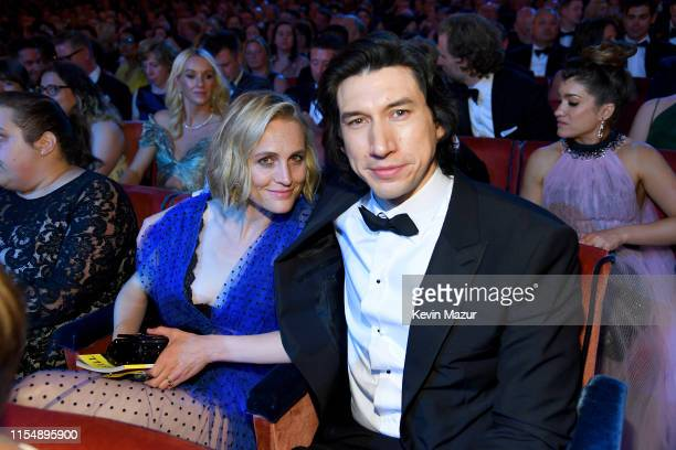 Joanne Tucker and Adam Driver attend the 73rd Annual Tony Awards at Radio City Music Hall on June 9 2019 in New York City