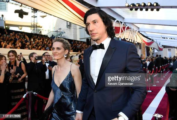 Joanne Tucker and Adam Driver attend the 91st Annual Academy Awards at Hollywood and Highland on February 24 2019 in Hollywood California