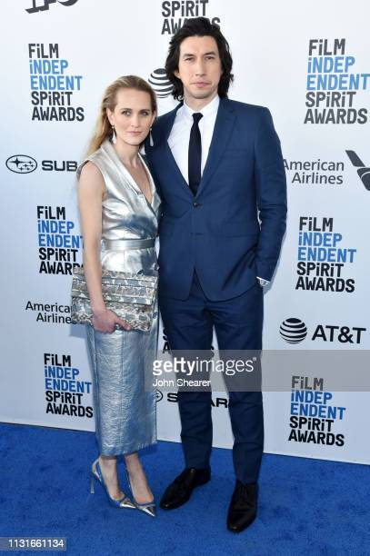 Joanne Tucker and Adam Driver attends the 2019 Film Independent Spirit Awards on February 23 2019 in Santa Monica California