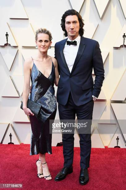 Joanne Tucker and Adam Driver attends the 91st Annual Academy Awards at Hollywood and Highland on February 24 2019 in Hollywood California