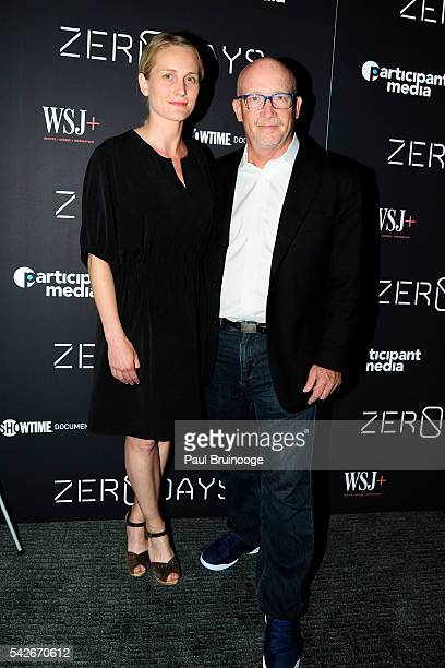 Joanne Tucker and Alex Gibney attend WSJ Presents the New York Premiere of ZERO DAYS at New York Institute of Technology on June 23 2016 in New York...
