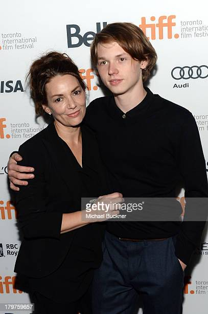"Joanne Whalley and actor Jack Kilmer arrive at the ""Palo Alto"" premiere during the 2013 Toronto International Film Festival at Scotiabank Theatre on..."