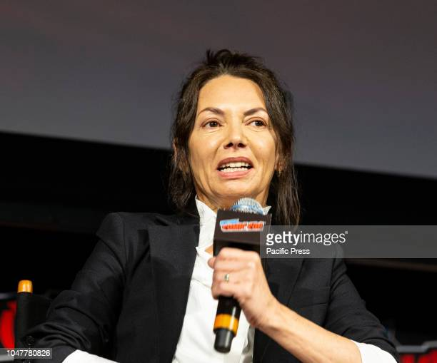 Joanne Whalley attends Marvel's Daredevil panel during New York Comic Con at Hulu Theater at Madison Square Garden.