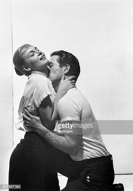 Joanne Woodward and Paul Newman as Clara Varner and Ben Quick in the film The Long Hot Summer based on a novel by William Faulkner