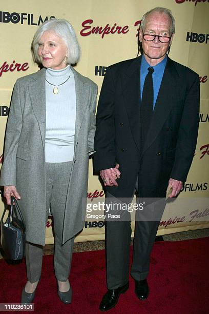 Joanne Woodward and Paul Newman during HBO Films Empire Falls New York City Premiere Arrivals at The Metropolitan Museum of Art in New York City New...